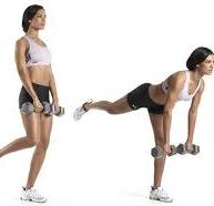 girl performing a one-legged-dead-lift for best butt exercises