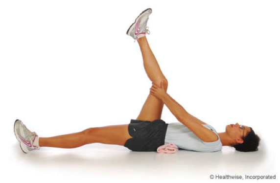 image of person performing a static stretch