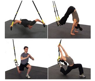 Image of people using TRX apparatus