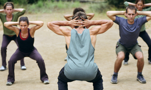 image of group in a crossfit workout