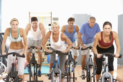 picture of spinning class