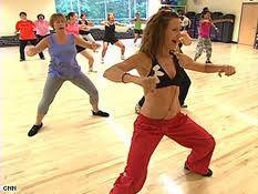 image of ladies in a zumba class