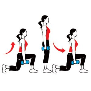 image of walking lunge