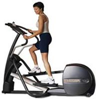young woman on an elliptical trainer