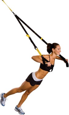 image of woman doing a trx push up