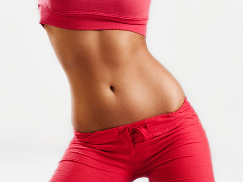 image of a woman's tummy