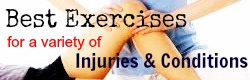 best exercises for injuries and conditions button